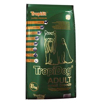 TropiDog Adult Small Breeds with LAMB,SALMON & rice 8kg