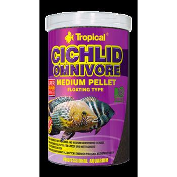 Cichlid Omnivore Medium Pellet 500ml/180g