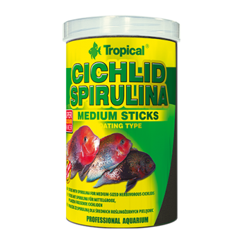 Cichlid Spirulina Medium Sticks 250ml/90g