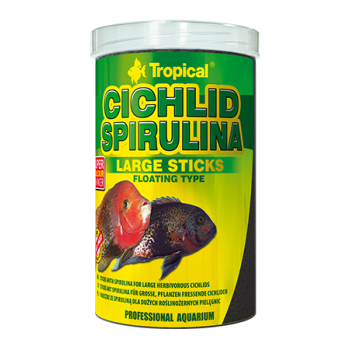 Cichlid Spirulina Large Sticks 250ml/75g