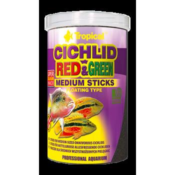 Cichlid Red & Green Medium Sticks 250ml/90g