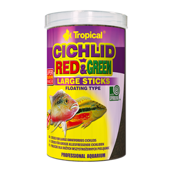 Cichlid Red & Green Large Sticks 250ml/75g