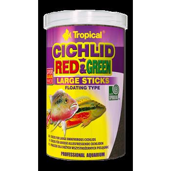 Cichlid Red & Green Large Sticks 1000ml/300g