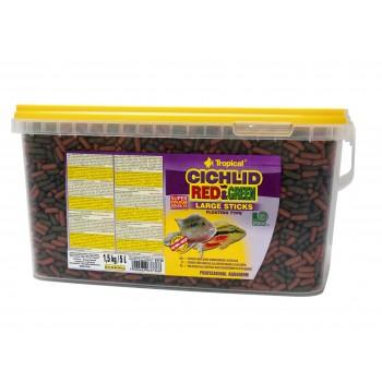 Cichlid Red & Green Large Sticks 10l/3kg