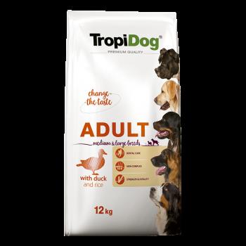 TropiDog Premium Adult M&L DUCK & Rice 12kg