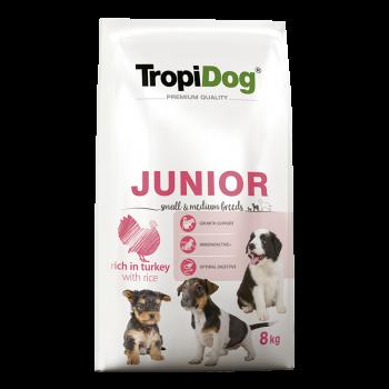 TropiDog Premium Junior Small & Medium Breeds rich in...