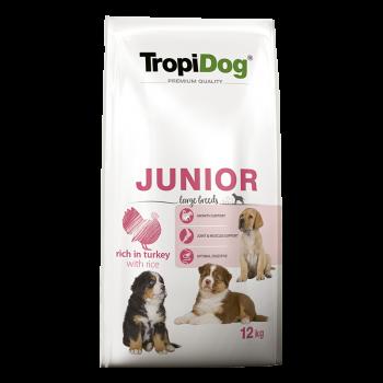 TropiDog Premium Junior LARGE Breeds rich in TURKEY with...