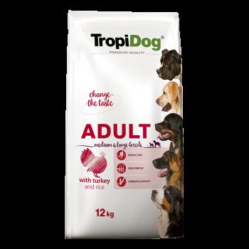 TropiDog Premium Adult M&L TURKEY & Rice 12kg