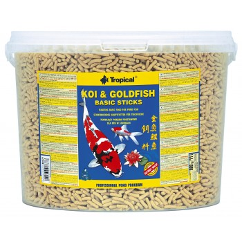 Koi & Goldfish Wheat Germ & Garlic Sticks 11l/900g -bucket