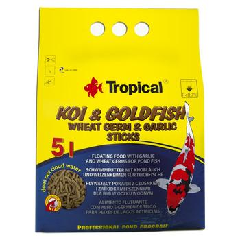 Koi & Goldfish Wheat Germ & Garlic Sticks 5L/400g -bag