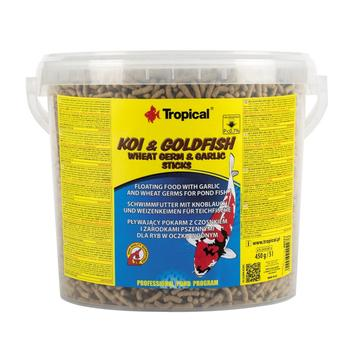 Koi & Goldfish Wheat Germ & Garlic Sticks 5l/430g -bucket