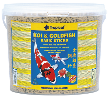 Koi & Goldfish Basic Sticks 5l/430g -bucket