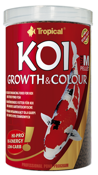 Koi Growth & Colour Pellet size M 1000ml/320g -tin
