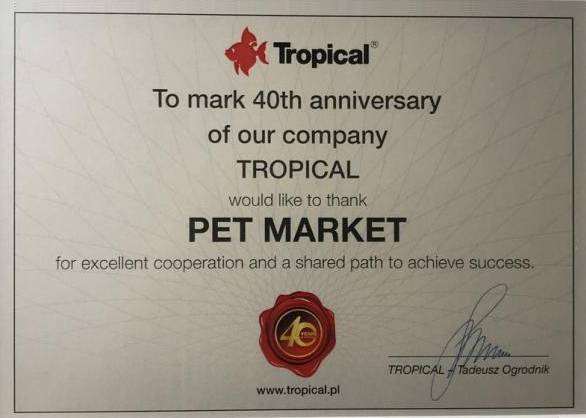 Pet Market Certificate